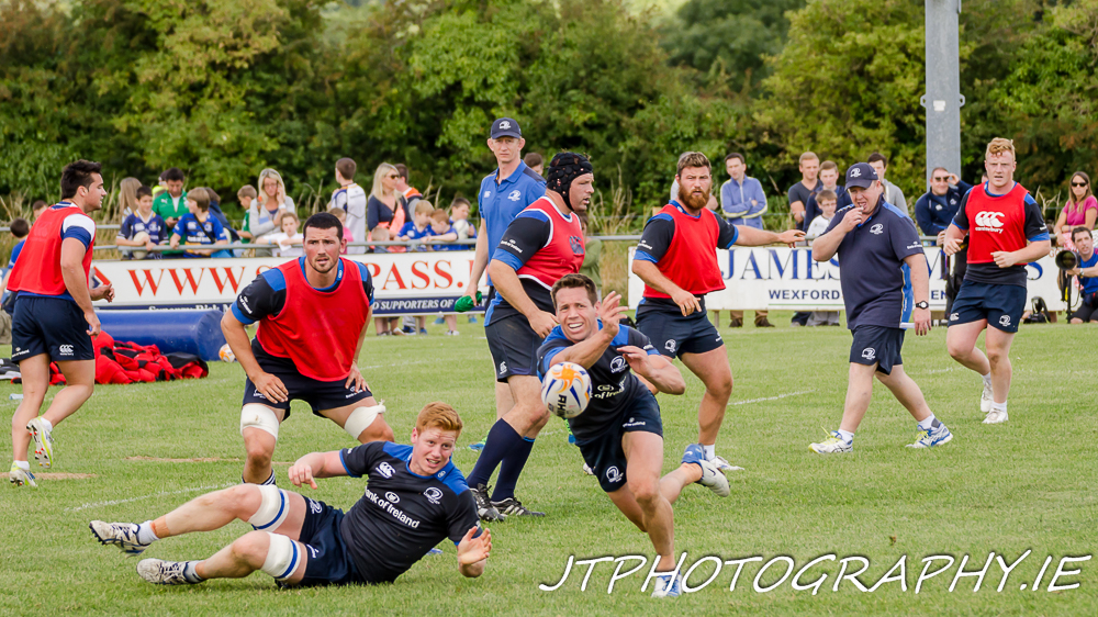 Leinster Rugby training session at Gorey Rugby Football Club.